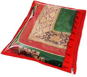 ForeTend Designer Frill Satin Saree Cover 6PC
