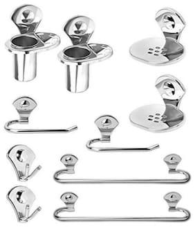 Fortune Premium 10 - Pieces Stainless Steel Bathroom Accessories Set ( Set of 2 )