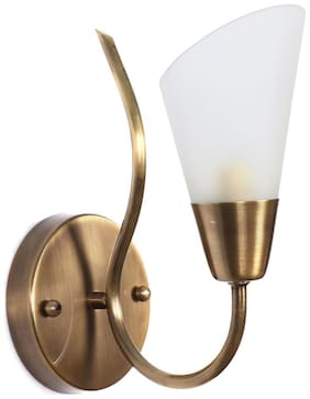 Fos Lighting Modern Cone Antique Brass Single Wall Sconce Light