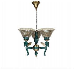 Fos Lighting Pegasus Seahorse 3 Light Chandelier - Golden
