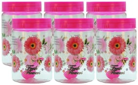 FPR 450 ml Pink Plastic Container Set - Set of 6