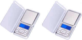FPR Mini Pocket Weight Scale Digital Jewellery/Chem/Kitchen Small Weighing Machine with Auto Calibration, Tare Full Capacity, Operational Temp 10-30 Degree (200/0.01 g) (Pack of 2)