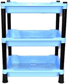 FPR Unilite Universal Multi Purpose Plastic Square 3 Layer Fruit and Vegetable Rack