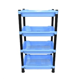 FPR Unilite Multipurpose 4 Layer Shelves Plastic Kitchen Rack for Vegetable/Fruits Storage Organizer