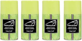 Fragair Air Freshener Refills for Automatic Dispensers Lime Leaf Pack of 4 (250ml each)