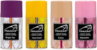 Fragair Air Freshener Refills for Automatic Dispensers Pack of 4 (250ml each)
