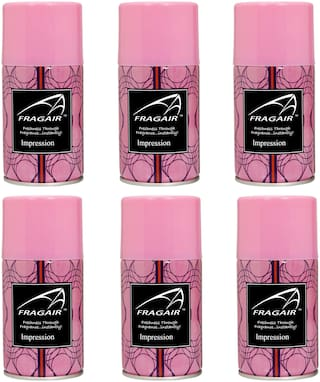 Fragair Air Freshener Refills for Automatic Dispensers Impression Pack of 6 (250ml each)