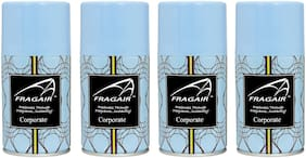 Fragair Air Freshener Refills for Automatic Dispensers Corporate Pack of 4 (250ml each)