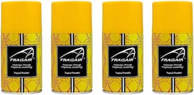 Fragair Air Freshener Refills for Automatic Dispensers Tropical Paradise Pack of 4 (250ml each)