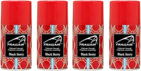 Fragair Air Freshener Refills for Automatic Dispensers Black Berry Pack of 4 (250ml each)