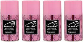 Fragair Air Freshener Refills for Automatic Dispensers Impression Pack of 4 (250ml each)