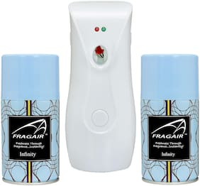 Fragair CMK311 Automatic Spray Air Freshener Dispenser with 2 Refill 250 ml (Infinity )