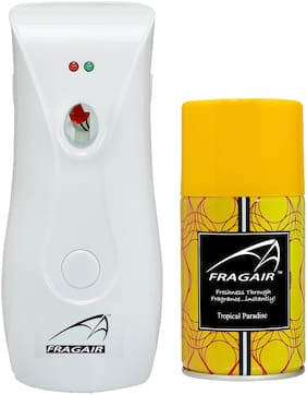 Fragair CMK311 Automatic Spray Air Freshener Dispenser with 1 Refill 250 ml (Tropical Paradise )