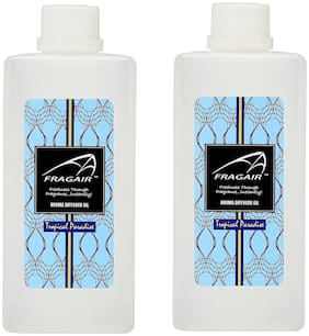 Fragair Concentrated/Undiluted Tropical Paradise Aroma Oil for Air Revitalizer Pack of 2 (500ml each)