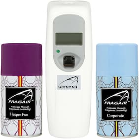 Fragair LCD Display B2 Automatic Spray Air Freshener Dispenser with 2 Refill 250 ml