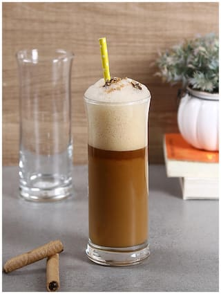 Uniglass Frappe Tall Cocktail,Coffee,Juice,Water Drinking Glass 290ml Set of 6pcs,Transparent