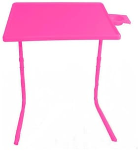 Frazzer Foldable With Cup Holder Plastic Portable Laptop Table (Finish Color - Pink)