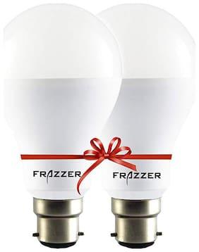 Frazzer Premium 9 W White LED Bulb (Pack of 2)