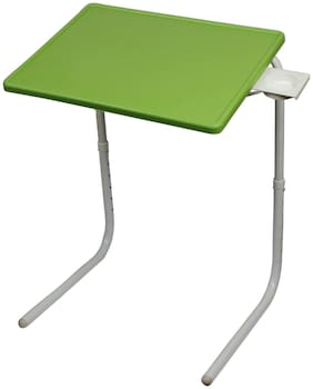 Frazzer Unbreakable Proud Make in India Table Mate Multi Purpose Table with Parrot Green Top and White Legs