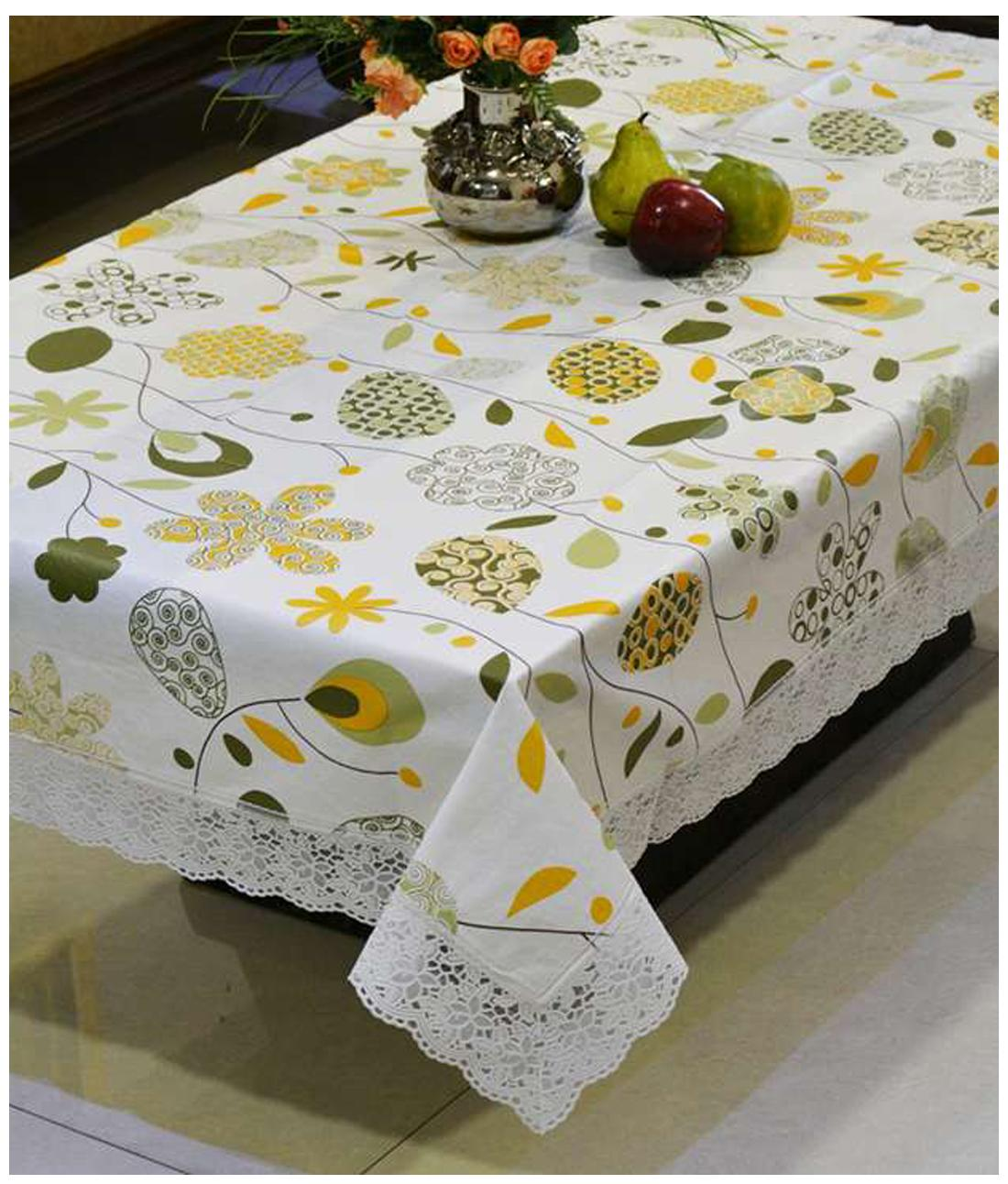 Paytm Mall & Freely Dining Oval Printed Table Covers For 8 Seater