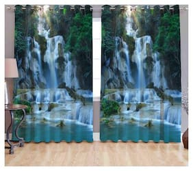 Fresh From Loom Digital Print Curtains for Long Door Eyelet Curtains Set of 2 Pc;Size - 9x4 Feet