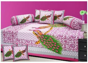 Fresh From Loom Cotton Diwan set of 8 pc