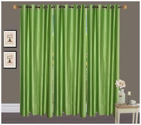 Fresh From Loom Plain Eyelet Long Door Curtain (Set of 3)