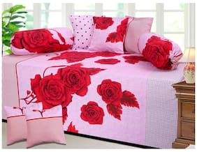 Fresh From Loom Cotton Diwan Set - 8 Pc