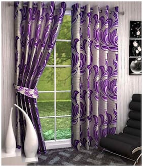 Fresh From Loom Polyster Ring Road Window Curtain Set of 2