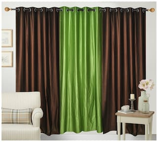 Fresh From Loom Polyester Door Curtain- Set of 3