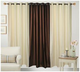 Fresh From Loom Plain Eyelet Curtain (Combo Set Of 3)