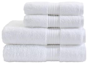 Fresh From Loom 450 GSM Cotton Bath towel ( 2 pieces , White )