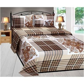 Fresh From Loom cotton 1 King Size Bed sheet with 2 Pillow Covers