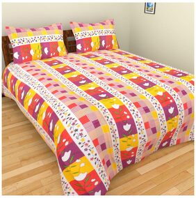 Fresh From Loom Cotton Floral Single Bedsheet