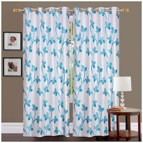 Fresh From Loom Polyester Long Door Curtain -2 Pc