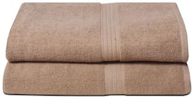 Fresh From Loom 450 GSM Cotton Bath towel ( 2 pieces , Brown )