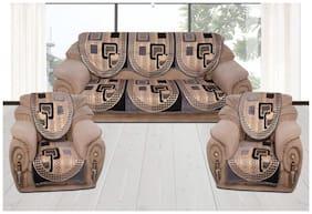 Fresh From Loom Premium Quality 500 TC Velvet Sofa Cover Set for 5 Seater