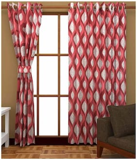 Fresh From Loom Polyester Window Curtain- Set of 2