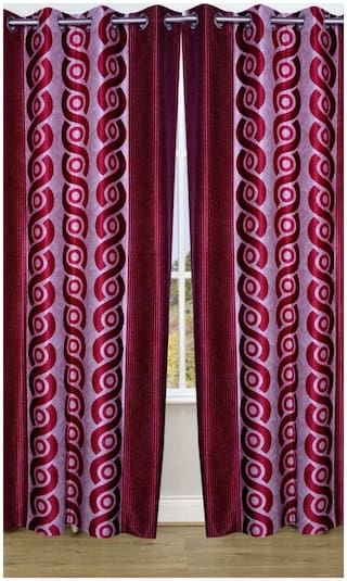 Fresh From Loom Contemporary Eyelet Curtain (Set of 2)