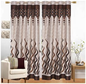 Fresh From Loom Polyester Window Curtain -2 pc