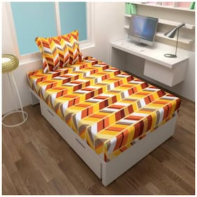 Fresh From Loom Cotton 1 Single Bedsheet With 1 Pillow Cover