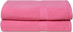 Fresh From Loom 450 GSM Cotton Bath towel ( 2 pieces , Pink )
