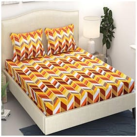 Fresh From Loom Cotton 1 Double Bedsheet With 2 Pillow Cover