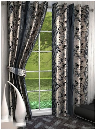Fresh From Loom Polyster Ring Road Long Door Curtain Set of 2
