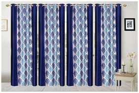 Fresh From Loom Polyester Window Curtain- Set of 4