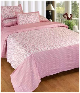 Fresh From Loom Cotton Double Bedsheet With 2 Pillow Cover