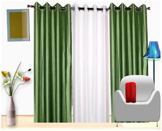 Fresh From Loom Polyester Window Curtain- Set of 3