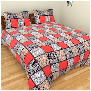 Fresh From Loom Cotton Checkered Single Bedsheet