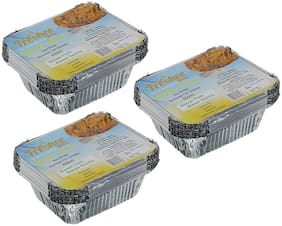Freshee 10 pcs Strong Disposable Aluminium Silver Foil Container 450ml (Pack of 3)