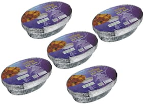 Freshee 10 pcs Strong Disposable Aluminium Silver Foil Container 600ml (Pack of 5)